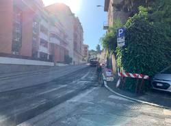 Cominciano i lavori stradali in via Maspero