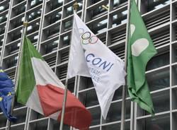 olimpiadi coni milano bandiera