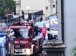 Incendio via Carducci Gallarate