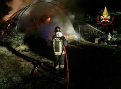 incendio vigili del fuoco fagnano olona