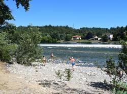 La spiaggia di Oleggio sul fiume Ticino