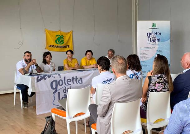 Porto Ceresio - presentazione dati Goletta dei laghi 2019