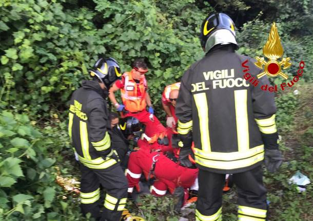 Incidente sulla Sp57, grave motociclista