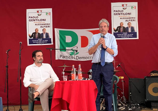 Varese - Paolo Gentiloni alla Festa dell'unità 2019