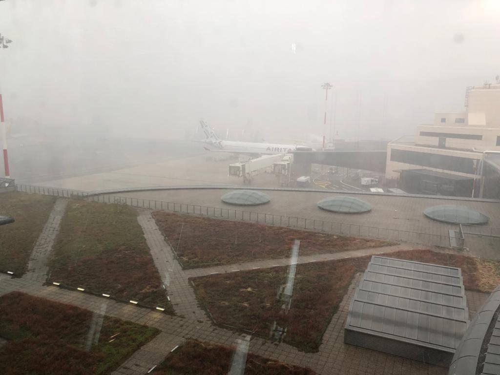 Il temporale a Malpensa