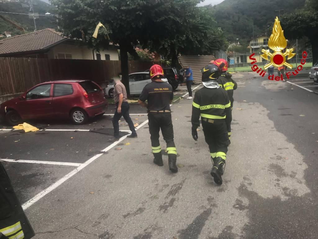 Maltempo nel Luinese, l\'intervento dei vigili del fuoco