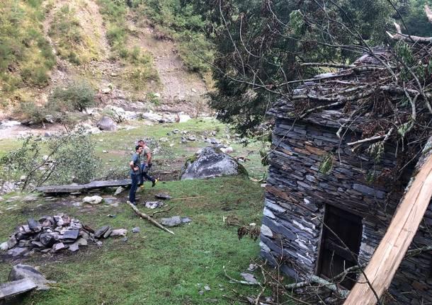 Dopo il maltempo, sopralluogo a Piero per la comunità montana