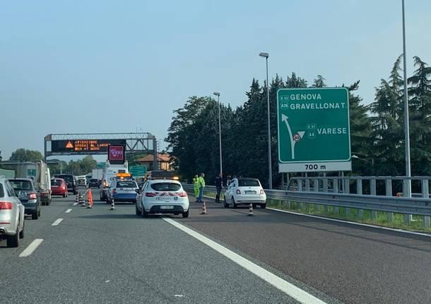 incidente autostrada gallarate