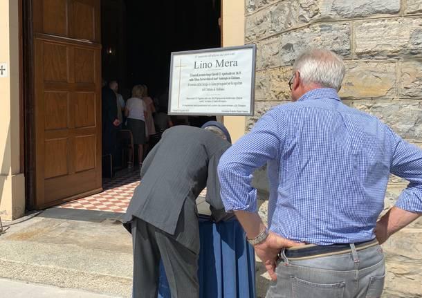 L'ultimo saluto a Lino Mera