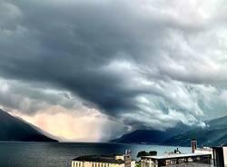 La pioggia sul Lago Maggiore