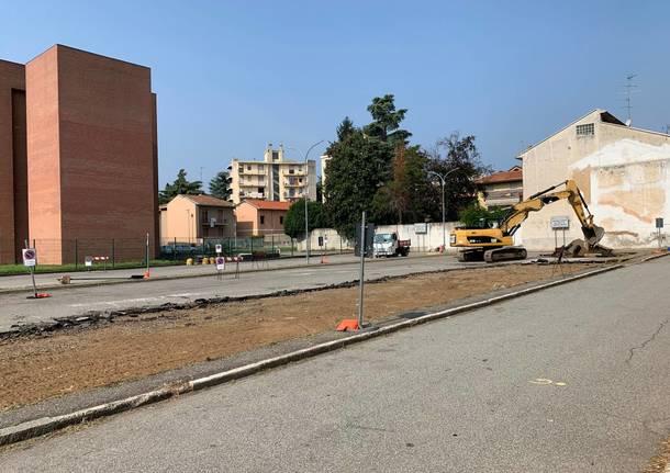 lavori parcheggio multipiano tribunale busto arsizio agosto 2019