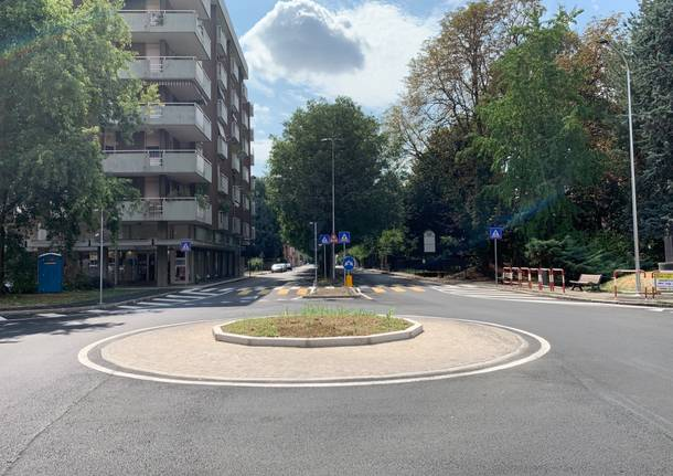 Nuove rotonde in via Magenta