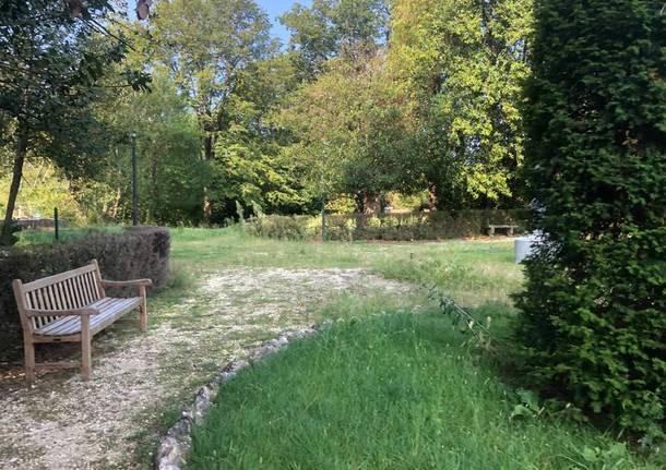 parco di villa Recalcati in abbandono