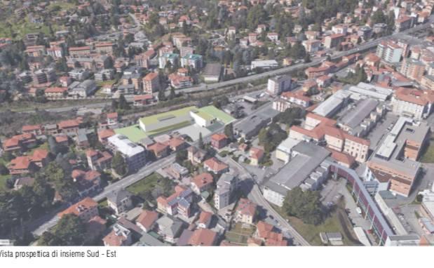 Una Rsa e un parcheggio multipiano davanti alla vecchia entrata dell'ospedale di Circolo