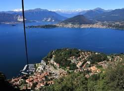 Il lago Maggiore visto dalla funivia di Laveno