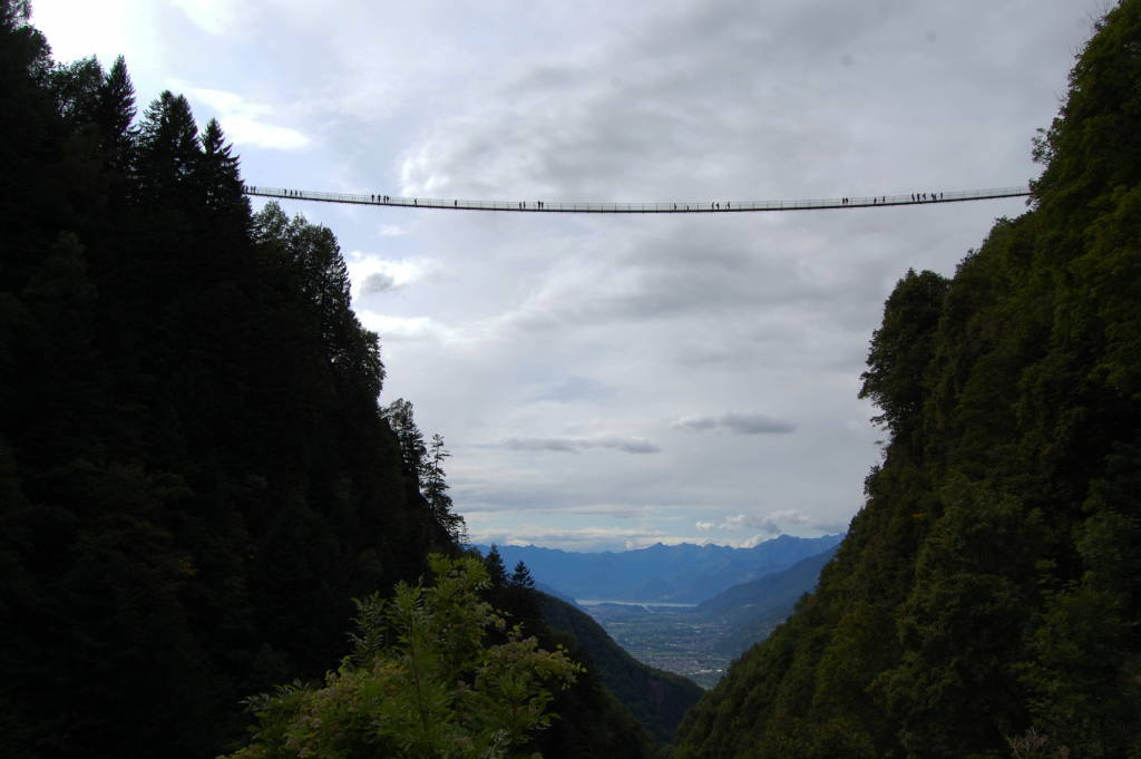 ponte tibetano della val Tartano