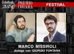 """Marco Missiroli dialoga con Giorgio Fontana: \""""Fedeltà\"""" (#Chiara2019)"""