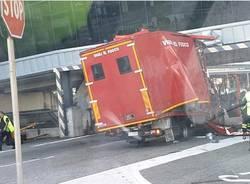 Incidente vigili del fuoco a Malpensa