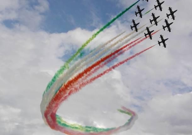 Frecce tricolori a Lovere foto di Aldo Passerello