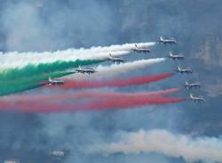 Frecce tricolori a Varenna, lago di Como - foto di Riccardo Lazzati