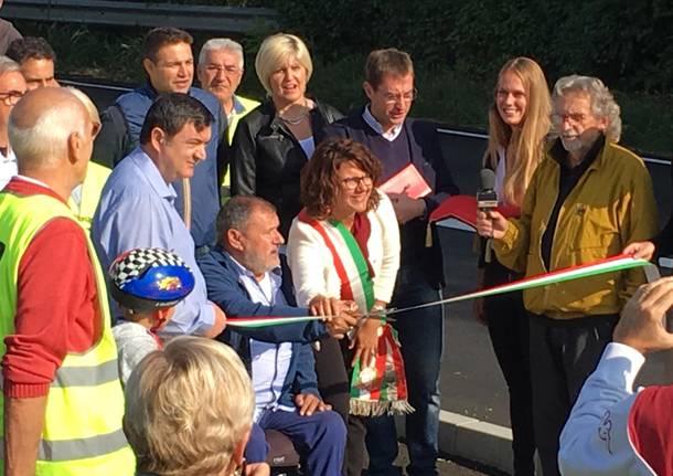 inaugurazione ciclopedonale san salvatore malnate