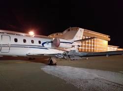 incidente aereo trattorino malpensa settembre 2019