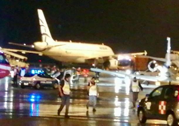 Incidente trattore aereo malpensa settembre 2019