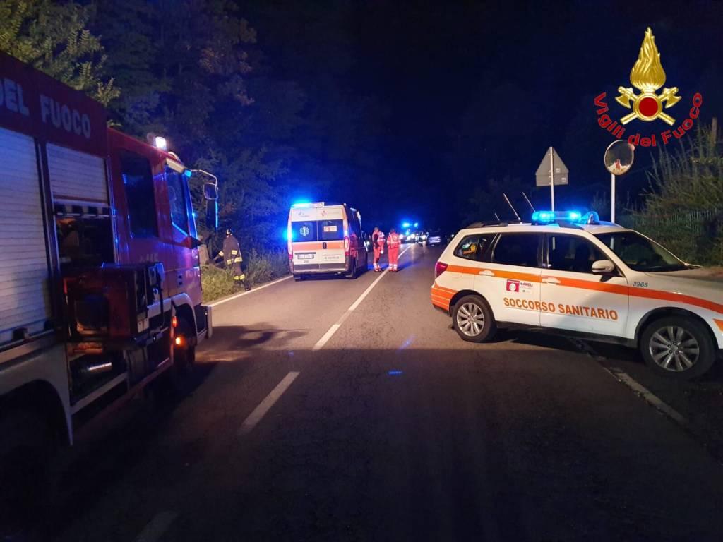Incidente Varano Borghi - foto dei Vigili del Fuoco