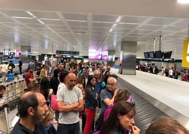 malpensa caos ritiro bagagli settembre 2019