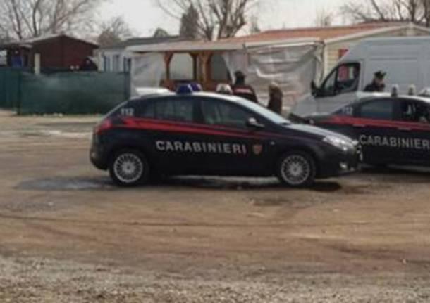 carabinieri campo nomadi busto arsizio