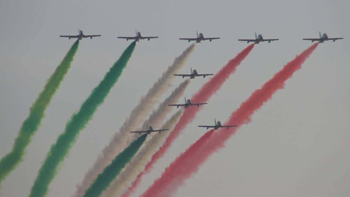 Frecce Tricolori al Milano Linate Air Show 2019
