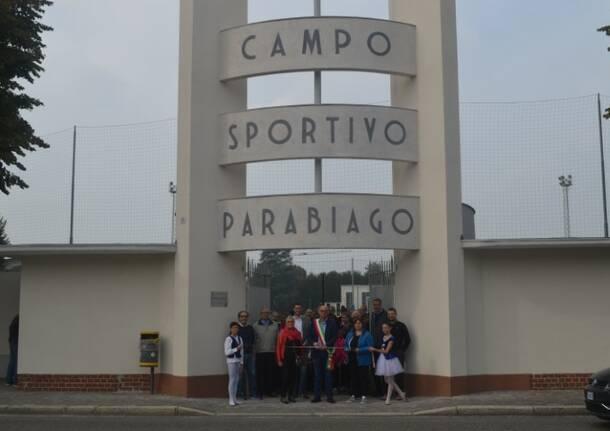 inaugurazione libero ferrario campo sportivo parabiago  1