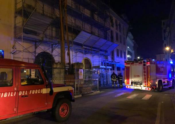 Incendio ad una mansarda in Piazza Garibaldi