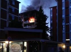 incendio appartamento via castelfidardo busto arsizio