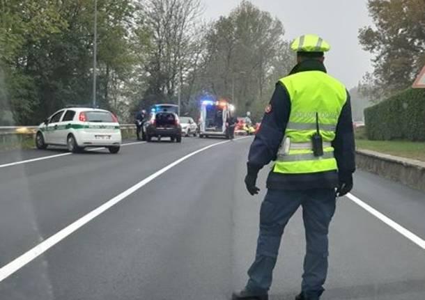 incidente sp 1 polizia locale