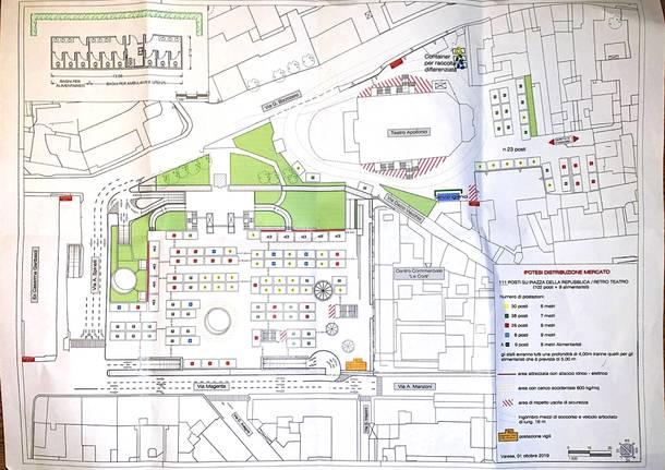 La mappa del mercato di Varese