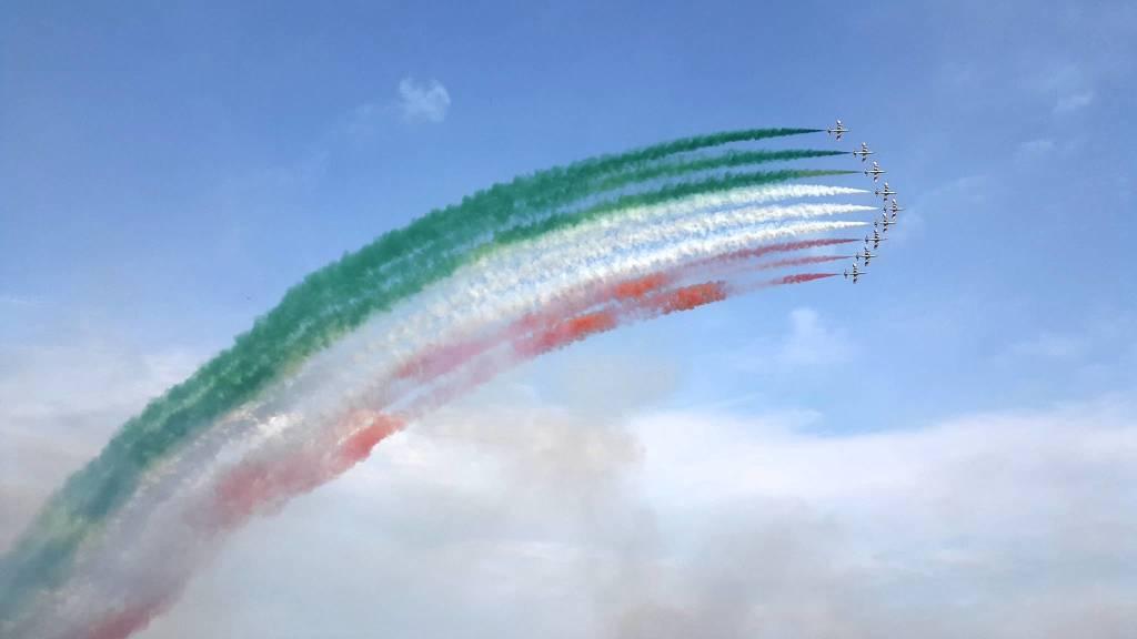 Le Frecce tricolori (foto di Roberto Vanola)
