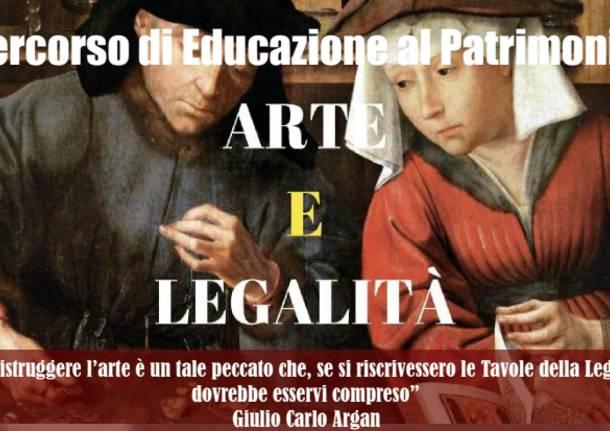 locandina incontri su legalità e arte