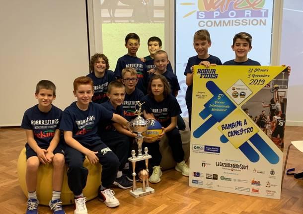 Presentazione torneo Bambini a canestro basket robur