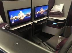 Qsuite Qatar Airways Malpensa