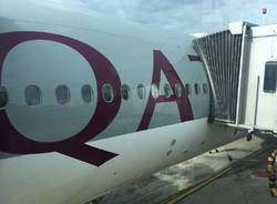 Qsuite Qatar Airways Malpensa