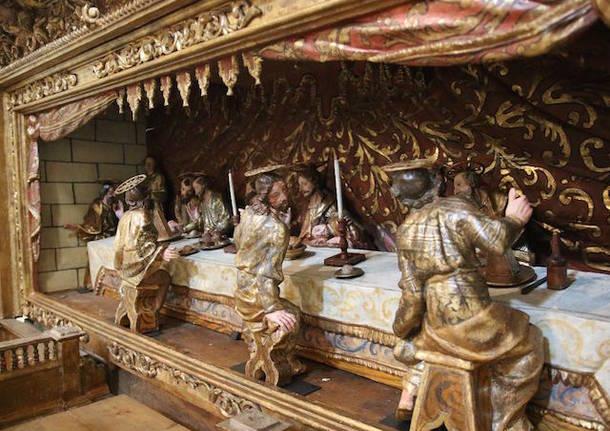 altare ligneo gemonio bernardino castelli chiesa di san rocco