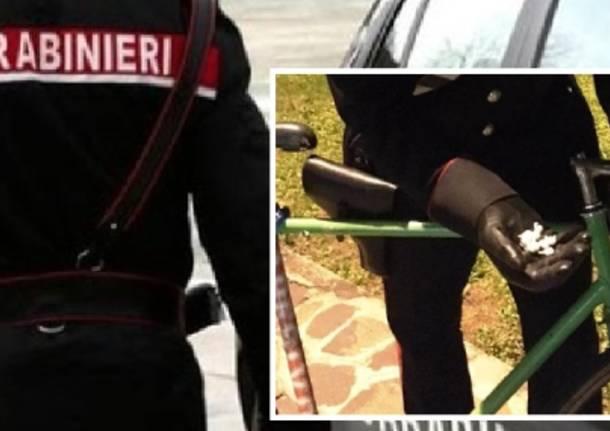 bicicletta cocaina carabinieri