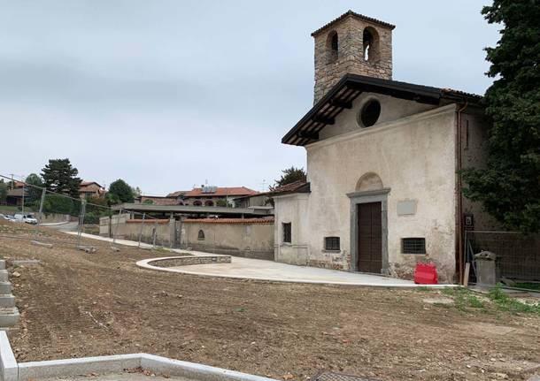 Brusimpiano - Lavori alla Chiesa di San Martino