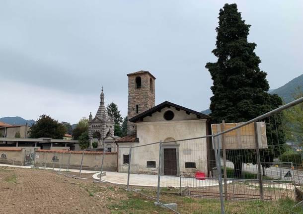 Brusimpiano: i lavori alla chiesa di San Martino