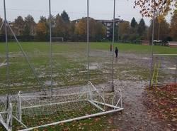 campo bustecche pioggia fango calcio