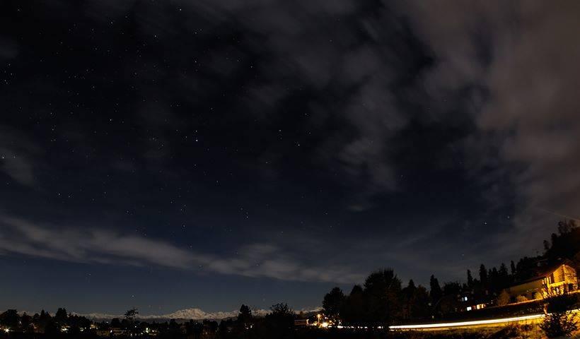 Stasera Monterosa e stelle viste da Golasecca
