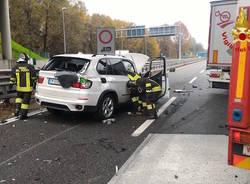 Incidente in A8 allo svincolo di Buguggiate-Lago