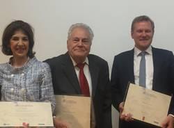 Fabiola Giannotti e Angelo Castiglioni ricevono il premio europeo Il premio Helena Vaz Da Silva