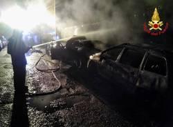 incendio auto busto arsizio